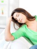 Mujer durmiente Foto de archivo libre de regalías