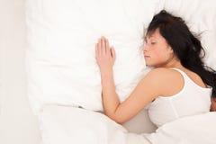 Mujer durmiente Fotografía de archivo libre de regalías