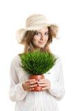 Mujer ecológica Fotografía de archivo libre de regalías