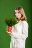 Mujer ecológica Imagenes de archivo