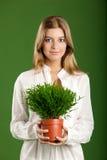 Mujer ecológica Fotos de archivo