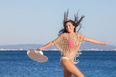 Mujer el día de fiesta en Mallorca o Majorca Fotografía de archivo libre de regalías