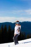 Mujer el vacaciones del esquí Fotografía de archivo libre de regalías