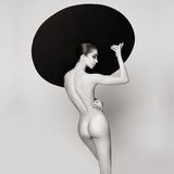 Mujer elegante desnuda Fotografía de archivo