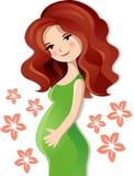 Mujer embarazada Foto de archivo libre de regalías