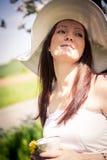 Mujer embarazada Fotos de archivo