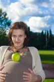 Mujer embarazada Imagen de archivo libre de regalías