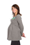 Mujer embarazada agradable 1 sonriente imagen de archivo libre de regalías