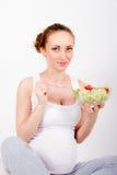 Mujer embarazada de los jóvenes Imagen de archivo libre de regalías