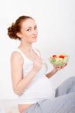 Mujer embarazada de los jóvenes Imagenes de archivo