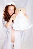Mujer embarazada de los jóvenes/adolescente Imagen de archivo