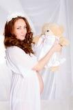 Mujer embarazada de los jóvenes/adolescente Foto de archivo
