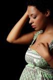 Mujer embarazada deprimida Fotografía de archivo