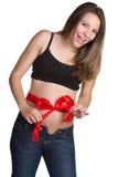 Mujer embarazada feliz Imágenes de archivo libres de regalías
