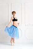 mujer embarazada feliz del concepto del deporte de la aptitud del embarazo Fotos de archivo