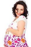 Mujer embarazada hermosa feliz foto de archivo libre de regalías