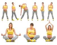 Mujer embarazada joven feliz hermosa Imagenes de archivo