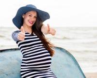 Mujer embarazada joven hermosa imágenes de archivo libres de regalías