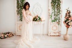 Mujer embarazada linda hermosa Foto de archivo libre de regalías