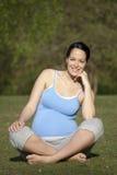 Mujer embarazada - sana imágenes de archivo libres de regalías