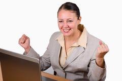 Mujer emocionada Imagen de archivo libre de regalías