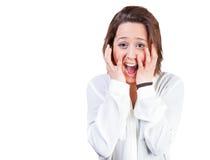 Mujer emocionada foto de archivo