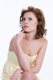 Mujer emocional joven fotografía de archivo