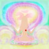 Mujer en actitud de la yoga Imagen de archivo
