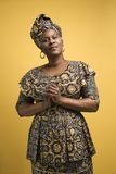 Mujer en alineada africana. Imágenes de archivo libres de regalías
