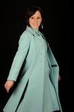Mujer en alineada azul Fotos de archivo