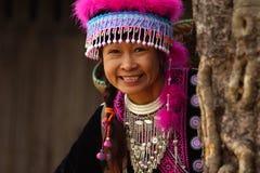 Mujer en alineada de la tribu de la colina Imágenes de archivo libres de regalías