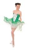 Mujer en alineada del ballet Imagen de archivo libre de regalías