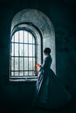 Mujer en alineada del Victorian fotos de archivo
