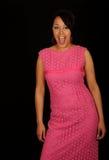 Mujer en alineada rosada Imágenes de archivo libres de regalías