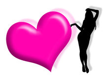 Mujer en amor Imagen de archivo libre de regalías