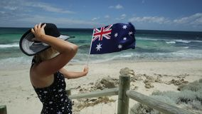 Mujer en Australia occidental almacen de video