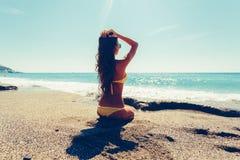 Mujer en bikini Imágenes de archivo libres de regalías
