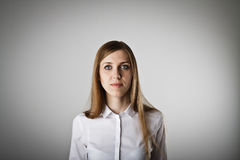 Mujer en blanco Fotos de archivo libres de regalías