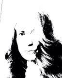 Mujer en blanco y negro Fotografía de archivo libre de regalías