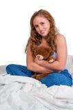 Mujer en cama Fotos de archivo libres de regalías