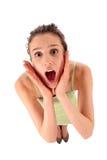 Mujer en choque Fotos de archivo libres de regalías