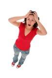 Mujer en choque Imágenes de archivo libres de regalías