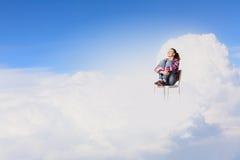 Mujer en cielo Fotografía de archivo libre de regalías