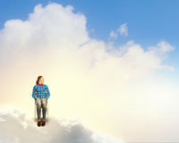 Mujer en cielo Fotografía de archivo
