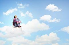 Mujer en cielo Imagen de archivo