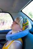 Mujer en coche Fotografía de archivo
