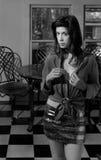 Mujer en cocina Foto de archivo