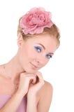 Mujer en color de rosa Fotografía de archivo libre de regalías