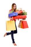 mujer en compras Imagen de archivo