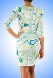 Mujer en concepto del vestido de la moda Imágenes de archivo libres de regalías